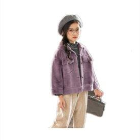 毛皮コート ファーコート 子ども服 子供服 キッズ 女の子 アウター フェイクファー ショート丈 柔らかい モコモコ ふわふわ 厚手 防寒 あったか 冬物 新作