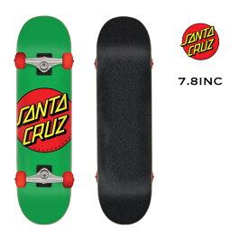 【20AW】【11116217】 SANTA CRUZ SKATEBOARD (サンタクルーズ スケートボード) SC CLASSIC DOT MID COMPLATE スケート コンプリート スケートボード スケボー 7.8INC【0400001670958】