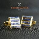 SIMON CARTER サイモンカーター カフス カフリンクス カフスボタン STONE GRILLE ブルー×ゴールド SODALITE GOLD サイモン...