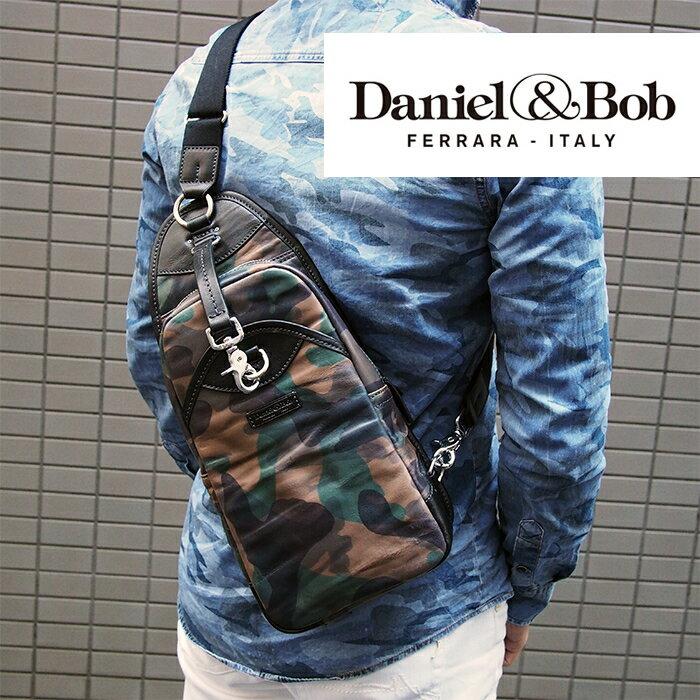 Daniel&Bob ダニエル&ボブ PIPPO ピッポ RODI レザー2WAYボディバッグ ショルダーバッグ 85/99 カモフラージュ×ブラック