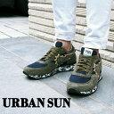 URBAN SUN アーバンサン メンズ スニーカー ANDRE アンドレ カーキ×デニム/グレーカモフラージュ アーバンサン スニーカー