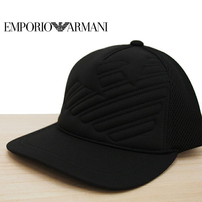 EMPORIO ARMANI エンポリオアルマーニ イーグルロゴ ベースボールキャップ ブラック アルマーニ 帽子