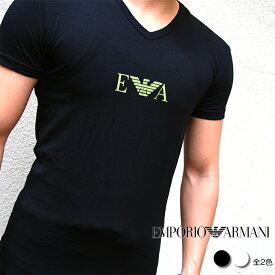 EMPORIO ARMANI エンポリオ アルマーニ 半袖VネックTシャツ アンダーウェア 110810 9P715 全2色 エンポリオアルマーニ tシャツ