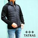 TATRAS タトラス メンズダウンジャケット MTK20A4193 INDO BLACK/ブラック 袖切り替え タトラス ダウン メンズ タトラス メンズ