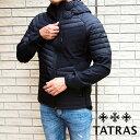 TATRAS タトラス メンズダウンジャケット MTK20A4192 LAMBRO BLACK/ブラック 袖切り替え タトラス ダウン メンズ タトラス メンズ