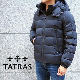 TATRAS タトラス BORBORE フード付き メンズダウンジャケット MTA20A4568 BLACK/ブラック タトラス ダウン メンズ タトラス メンズ