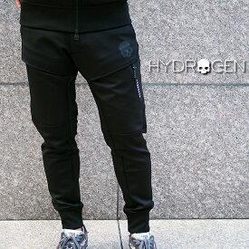 HYDROGEN ハイドロゲン メンズ ジョガーパンツ ジャージパンツ 250626 BLACK/ブラック L.A. PANTS 立体裁断加工 ジョガーパンツ メンズ ハイドロゲン フィットネスウェア