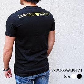 EMPORIO ARMANI エンポリオ アルマーニ 半袖VネックTシャツ 全2色 111556 0P525 バックプリント アルマーニ tシャツ