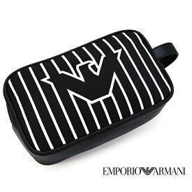 EMPORIO ARMANI エンポリオ アルマーニ セカンドバッグ クラッチバッグ ポーチ ブラック/ホワイト Y4R249 YMO2V