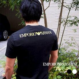 EMPORIO ARMANI エンポリオ アルマーニ 半袖クルーネックTシャツ 全2色 110853 0P525 バックプリント アルマーニ tシャツ
