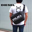 DIESEL ディーゼル ボディバッグ ショルダーバッグ ブラック F-BOLD CROSS X07346 P3188 T8013 ディーゼル バッグ diesel バッグ バムバッグ