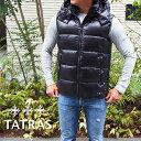 TATRAS タトラス フード付き ダウンベスト BLACK/ブラック POSEIDONE MTAT20A4564-D メンズ ダウン タトラス ダウンベスト タトラス メンズ