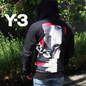 Y-3 ワイスリー アートグラフィック スウェットパーカー ブラック GK4402 M CH1 GFX HOODIE ジップアップパーカー 内田すずめ ヨウジヤマモト Yohji Yamamoto アディダス adidas y3 パーカー