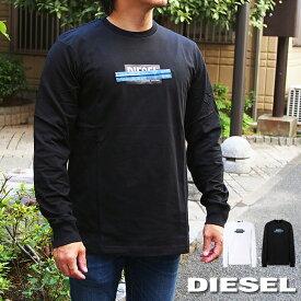 DIESEL ディーゼル ロングTシャツ ロンT 全2色 T-JUST-LS-X41 A01038 0CATM ディーゼル tシャツ 長袖
