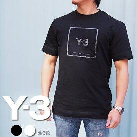 Y-3 ワイスリー クルーネックTシャツ スクエアラベル グラフィック Tシャツ 全2色 U SQ LBL GRAPHIC SS TEE GV6060 GV6061 adidas Yohji Yamamoto アディダス y3 Tシャツ y−3 Tシャツ