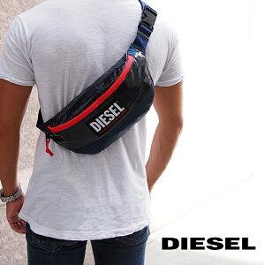 DIESEL ディーゼル ボディバッグ ウエストポーチ ネイビー X08030 P4212 T6062 ディーゼル バッグ diesel バッグ LYAM PAT ディーゼル ボディバッグ
