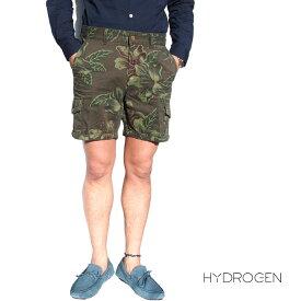 HYDROGEN ハイドロゲン 160512 カーゴショートパンツ ハーフパンツ 861/グリーン×花柄 ミリタリーカーゴショーツ バミューダパンツ フラワー