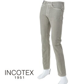 INCOTEX SLACKS インコテックス スラックス SKY SLIM 90570 コットンストレッチ5ポケットパンツ 914/ライトグレー