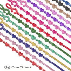 【メール便可】 CRUCIANI クルチアーニ 刺繍ブレスレット HEARTBEAT ハートビートモデル 全14色