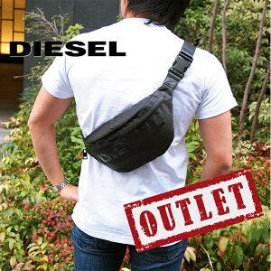 【アウトレット】DIESEL ディーゼル ボディバッグ ベルトバッグ ウエストポーチ ブラック X06090 P2249 H5067 ディーゼル バッグ diesel バッグ