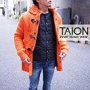 TAION タイオン メンズ インナーダウン 全2色 軽量 収納袋付 クルーネックボタン 防寒 インナーダウンジャケット インナーダウン メンズ