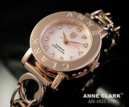 【送料無料】【ANNE CLARK】アンクラーク・レディース腕時計ピンクゴールド 天然ピンクシェル文字盤 AN-1021-17PG