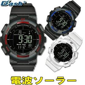 メンズ 腕時計 電波 ソーラー DASH ブランド ウォッチ リチウム 人気 デュアルパワー駆動 大人気 WATCH うでどけい とけい【腕時計】【メンズ】