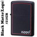 zippo(ジッポーライター)218BLACK MATTE(ブラックマット)ZIPPOロゴライン入り#218ZB