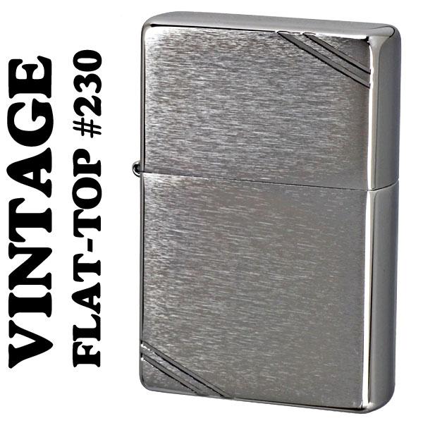 フラットトップビンテージ・ブラッシュクローム (ラインあり)1937 #230 ジッポ zippo ライター ZIPPOライタ− ジッポーライター lighter