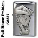 zippo(ジッポーライター) Full House Emblem(フルハウスエンブレム)High Polish Chrome #28837