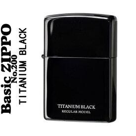 【7月・8月はいつでもポイント5倍!】zippo (ジッポーライター)UNMiX アンミックス ブラックチタン 200【ネコポス対応】