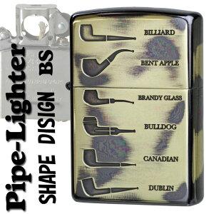 zippo(ジッポーライター) パイプ ライター シェイプデザイン ブラス 真鍮 いぶし【ネコポス対応】