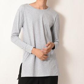 【メール便送料無料】 ゆったり ロング丈 無地 カットソー Tシャツ クルーネック メンズ
