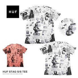 【メール便送料無料】 半袖 Tシャツ メンズ 総柄 グラフィック カットソー HUF STAG S/S TEE