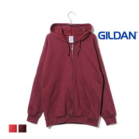【並行輸入品】GILDAN 裏起毛 フルジップパーカー メンズ レディース ユニセックス 8oz 無地 シンプル 大きいサイズ