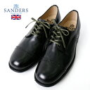 SANDERS/サンダース ダービーシューズ B.G.S. PUNCHED CAP DERBY 1944 [メンズ 靴 本革 革靴 ビジネスシューズ ミリタ…