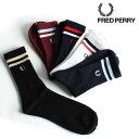 FRED PERRY/フレッドペリー ティップライン入り ショートソックス F19697[メンズ ソックス メンズソックス 靴下 ビジネスソックス おしゃれ か...