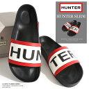 HUNTER/ハンター ラバーサンダル MENS HUNTER SLIDE MFD4016EVA-BLK[メンズ シューズ サンダル 靴 ラバー シャワーサンダ...