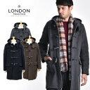 LONDON TRADITION/ロンドントラディション ダッフルコート Duffle Coat MARTIN SLIM LONG[メンズ コート ダッフル ロング ウール メルトン ダブルフェイス タータンチェック トグル 軽 暖か おしゃれ かっこいい 冬服 冬物 冬 大人 彼氏 プレゼント]