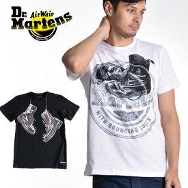 Dr.martens/ドクターマーチン Logo Boots T-Shirts ロゴブーツ AC830100 / Neck Boots T-Shirts ネックブーツ AC831001[メンズ 半袖 Tシャツ クルーネック コットン プリント シンプル おしゃれ かっこいい モッズ 夏 大人 彼氏 プレゼント]