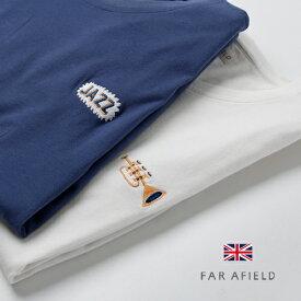 FAR AFIELD/ファー アフィールド ワンポイント 胸刺繍 Tシャツ Embroidered T-Shirt AFTS048 AFTS045[FAR AFIELD/ファー アフィールド ワンポイント 胸刺繍 Tシャツ Embroidered T-Shirt AFTS048 AFTS045]