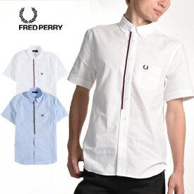 994b96275e69 FRED PERRY/フレッドペリー フロントテープ 半袖 ボタンダウンシャツ FRONT TAPE B/D S