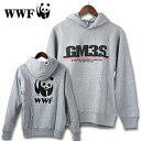 WWFスゥエットパーカー「GM3」グレー