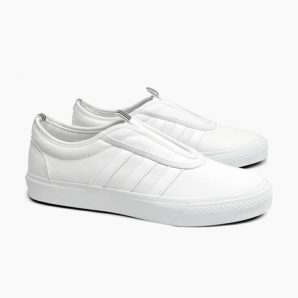 ADIDAS SKATEBOARDING ADI-EASE KUNG FU [BB8497 WHITE/BLACK/WHITE] アディイース カンフー スリッポン アディダス スニーカー スケートシューズ メンズ ADIDAS ORIGINALS オリジナルス 白 黒 オールホワイト キャンバス スケートボーディング シューズ MEN'S SKATE SB 靴