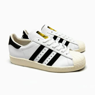 ADIDAS ORIGINALS SUPERSTAR 80'S G61070 WHITE/BLACK/CHALK阿迪达斯原始物大明星80S白/黑色/粉笔黑白ADIDAS SUPER STAR阿迪达斯运动鞋大明星女士SS(大明星)80S海外正规的物品