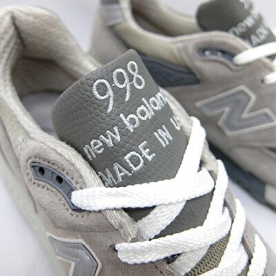 NEWBALANCE_ニューバランス_メンズ_スニーカー_M998MADEINU.S.A.GREYM998GYCLASSICS998グレーMEN'SGRAYニューバランス998USAレディースNEWBALANCEM996996靴D