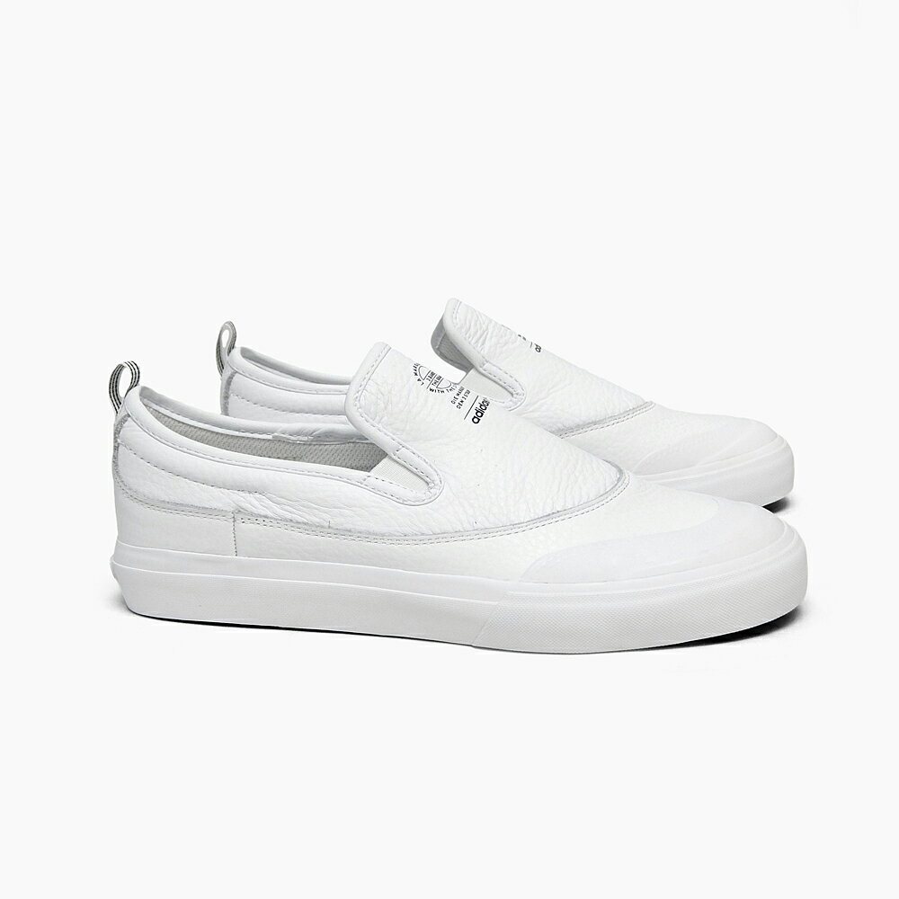 ADIDAS アディダス スニーカー スリッポン スケートシューズ メンズ MATCHCOURT SLIP CG4511 WHITE ADIDAS SKATEBOARDING レザー ホワイト 白 スケートボード シューズ スケシュー ローカット MATCH COURT SKATE BOARDING スケートボーディング SB MEN'S 靴
