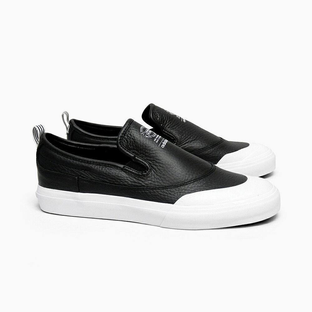 ADIDAS アディダス スニーカー スリッポン スケートシューズ メンズ MATCHCOURT SLIP CG4512 BLACK ADIDAS SKATEBOARDING レザー ブラック 黒 スケートボード シューズ スケシュー ローカット MATCH COURT SKATE BOARDING スケートボーディング SB MEN'S 靴