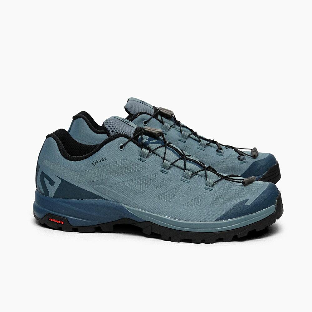 SALOMON OUTPATH GTX L39864200 サロモン メンズ スピードハイキング用シューズ アウトパス ゴアテックス 軽量 ハイキング 防水 ローカット シューズ 男性用 靴 アウトドア 登山 グリーン オリーブ