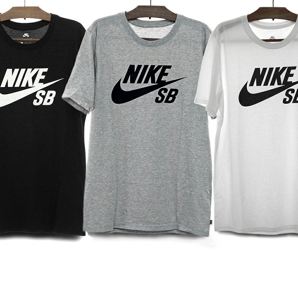NIKE SB ナイキSB Tシャツ メンズ レディース DRY-FIT LOGO TEE[821947 013 BLACK/WHITE 069 DGREYH/BLACK 100 WHITE/BLACK] ナイキ ドライフィット 速乾 ティーシャツ 半袖 黒 白 グレー S/M/L ロゴTシャツ スウッシュ スケートボード ストリート